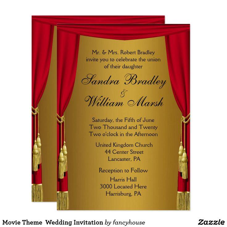 Movie Theme Wedding Invitation 412 best Wedding