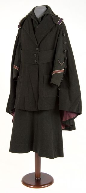 US Army uniform coat, c1918 Dark gray wool United States Army uniform jacket. Manufactured by Weltman, Pollack and Company, New York, circa 1918. The uniform was worn by a musical therapist, enlisted to aid in rehabilitation of wounded men through music and the use of musical instruments at Fort Snelling during World War I.