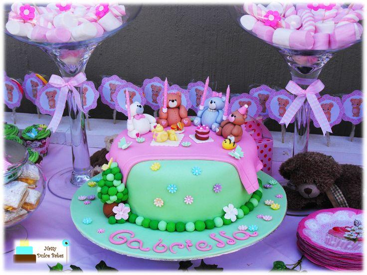 Teddy bear Picnic themed cake