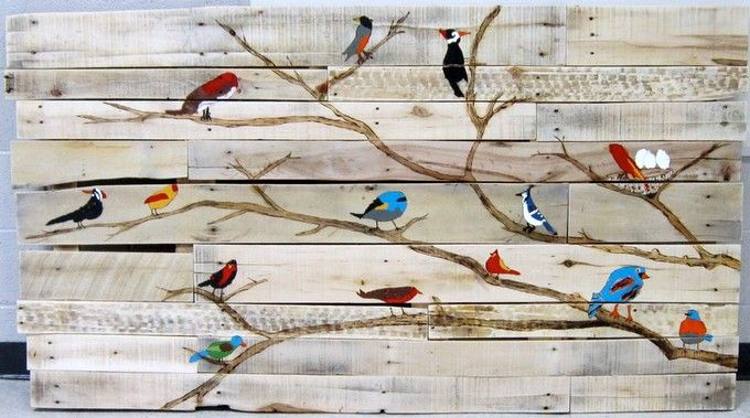 Third grade. Bird branch. Distribute paper birds to teachers for students to color/ paint. Adhere to branch or reclaimed wood.