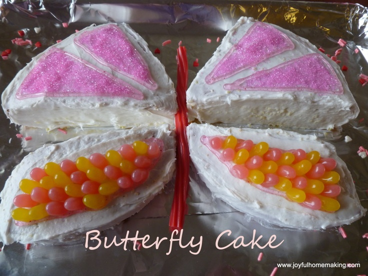 Someday I'll need this. Little Girl's Butterfly Cake » Joyful Homemaking