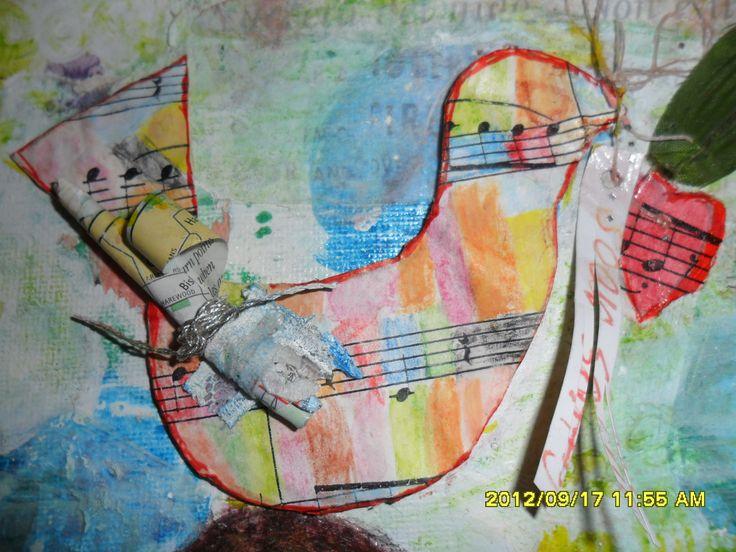 bird on angel, soar softly, aw 2009