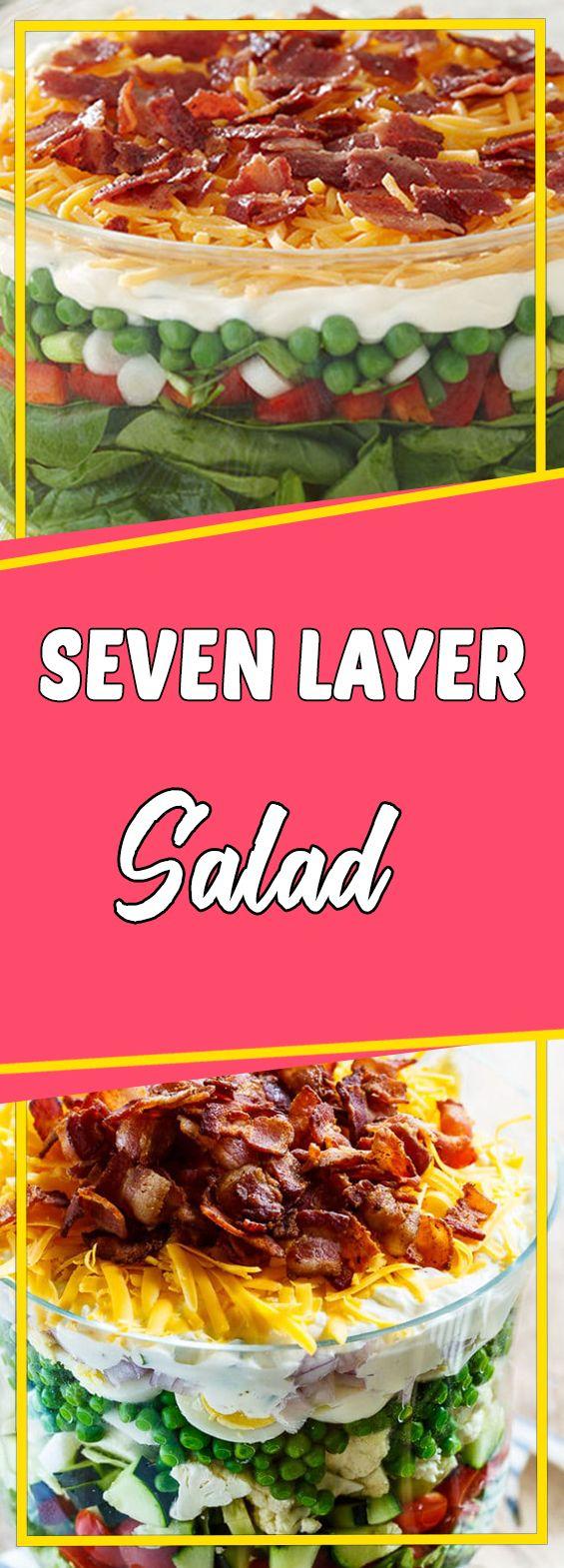 Seven Layer Salad #healthy #healthyeating #vegetarian #vegetarianrecipes #vegan #veganfood