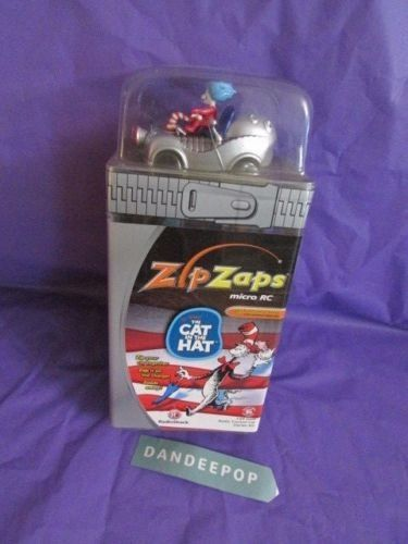 Dr Seuss' The Cat In The Hat ZipZaps Micro RC Car Vehicle Toy 600-7035 New #drseuss #thecatinthehat #rc #car #radioshack #zipzaps #toy #dandeepop