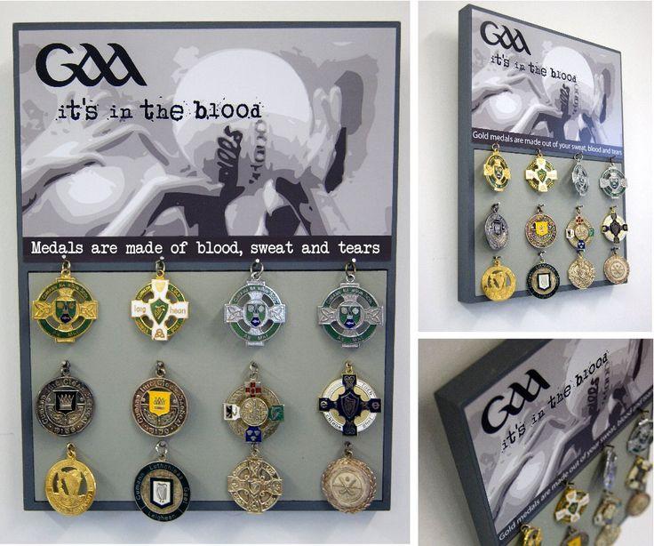 Football Medal Board  - Football Medal Display - GAA Medal Board - GAA Medal Display - Gaelic Football by RoisinandRobin on Etsy