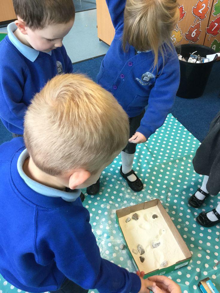 Meteorite experiments for preschool