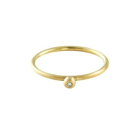 BELL gold ring with diamond