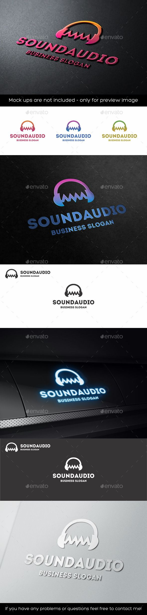 Audio Wave Sound Headphones Logo — Vector EPS #noise #recording studio • Available here → https://graphicriver.net/item/audio-wave-sound-headphones-logo/11341501?ref=pxcr