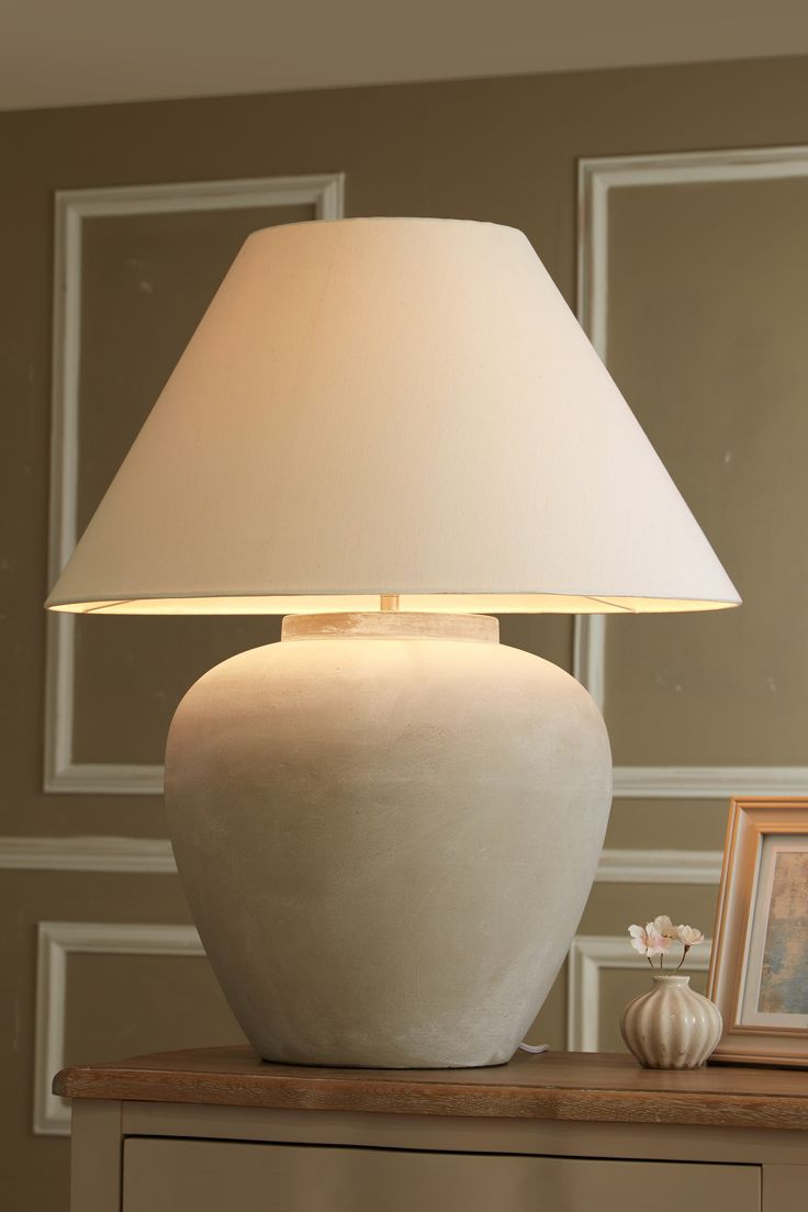 Next Extra Large Lydford Table Lamp Grey Large Lamp
