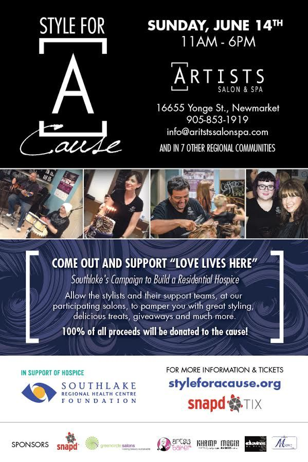 ARTISTS SALON & SPA  STYLE FOR A CAUSE REGIONAL 2015 EVENT #LOVELIVESHERE #SFAC2015