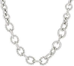 "Judith Ripka Sterling 20"" Verona Oval Link Necklace"