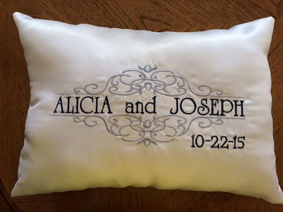 Wedding Kneeling Pillows Set of 2 by MarriageAndCarriages on Etsy