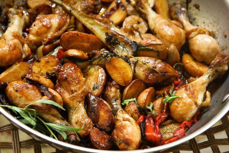 chicken,potatoes and fennel (hebtrew)