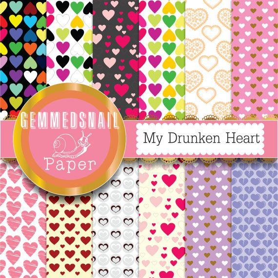 Hey, I found this really awesome Etsy listing at https://www.etsy.com/listing/154622787/hearts-digital-paper-my-drunken-heart