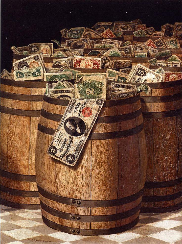 Victor Dubreuil (1846-1946) — Barrels of Money (891×1194)