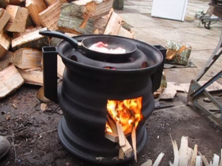 [Video] This DIY stove burns hot and long. http://www · Wood Burning ... - Best 25+ Cheap Wood Burning Stoves Ideas On Pinterest Firewood