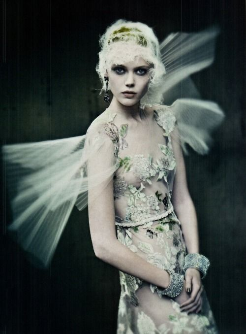 Frida Gustavsson photographed by Paolo Roversi for Vogue Italia,