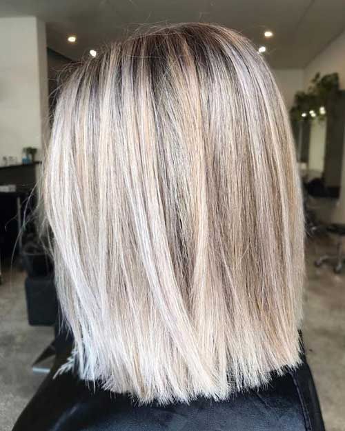 8.Lob Hairstyles for Straight Hair