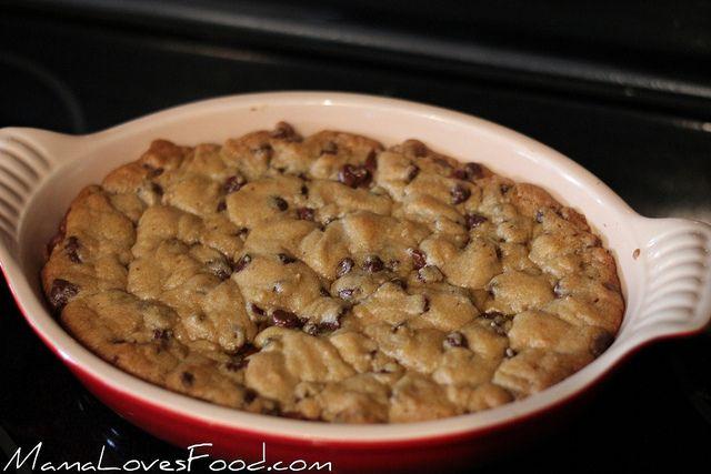 Chip Cookie Pie Ingredients: •1 roll refrigerated chocolate chip ...