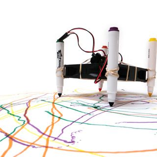 Build this really easy drawbot and create a machine that will draw a piece of art.