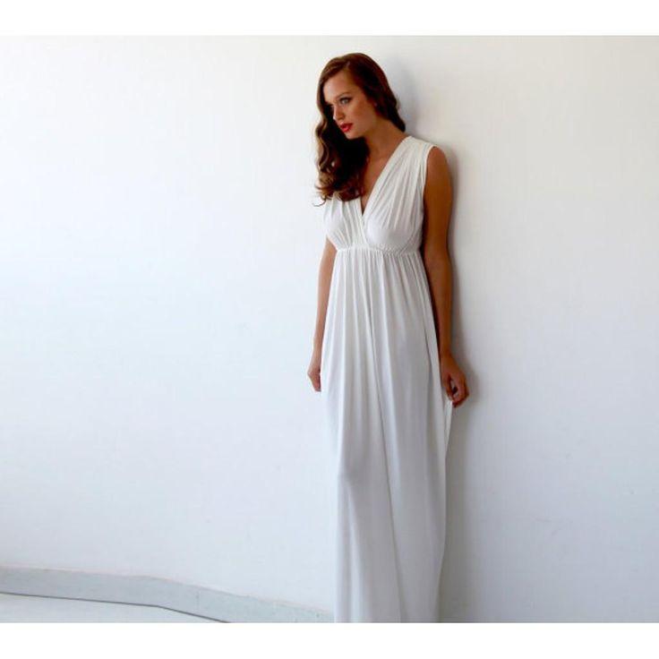 Perfect Wedding Dress ,Ivory Maxi Dress ,Wedding Gown , Ivory Wedding Dress - Blushfashion - Style&Pose www.styleandpose.com