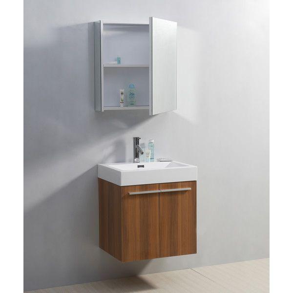 "Bathroom vanity - Plum finish, $555, 25.8"" H x 23.2"" W x 17.9"" D, 170lb"