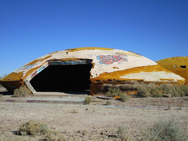 The Weird Abandoned Domes of Casa Grande, Arizona - Some have likened the eerie abandoned buildings, known as 'the Domes', to flying saucer-like UFO houses, retro-futuristic ruins inspired by post-war science fiction shows.