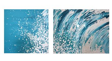Manyung Gallery Group Annette  Spinks Breaking Diptych