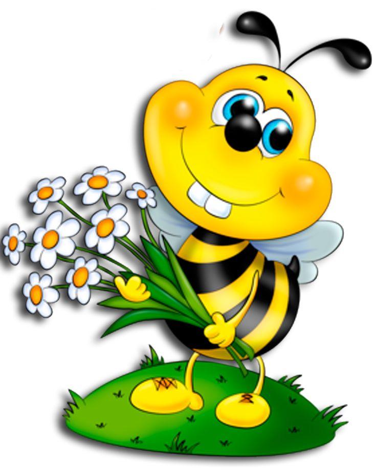 Открытки днем, картинки пчелки для детей нарисованные цветные красивые