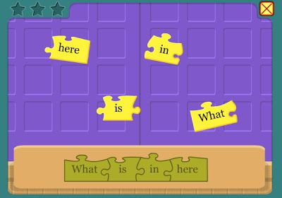 Sentence Building - great sites for young students to work on building and creating complete sentences - found at: Technology Rocks. Seriously.