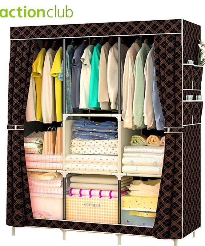 1Pcs Modern Non woven Cloth Wardrobe Storage Cabinet DIY