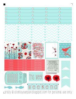 stick to your plan: pretty poppies - free printable