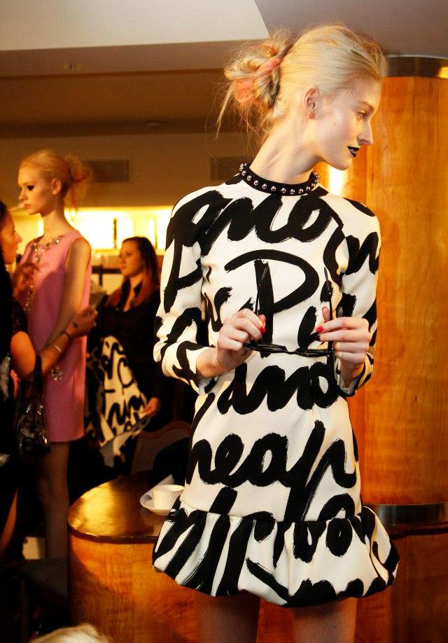 Grungy Punk Fashion Trend for Fall Winter 2013. Moschino Cheap and Chic Fall…