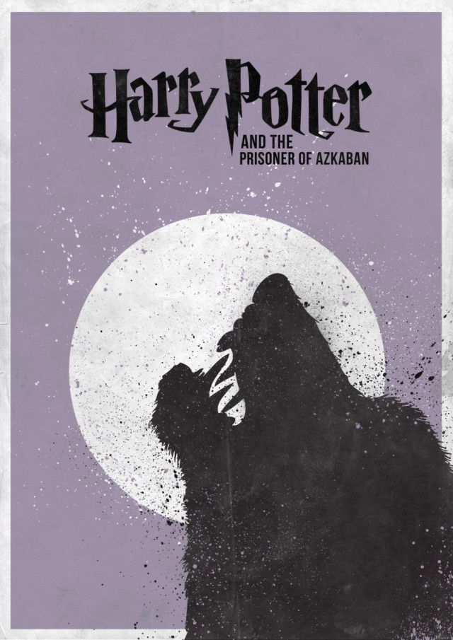 Harry Potter & the Prisoner of Azkaban Minimal Harry Potter Film Poster Designed by Craig Anthony Wintin