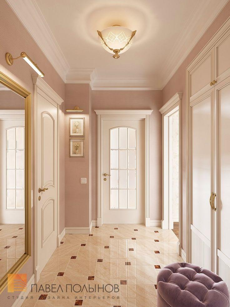 Фото холл из проекта «Дизайн однокомнатной квартиры 48 кв.м. в классическом стиле, ЖК «Жемчужный фрегат» »