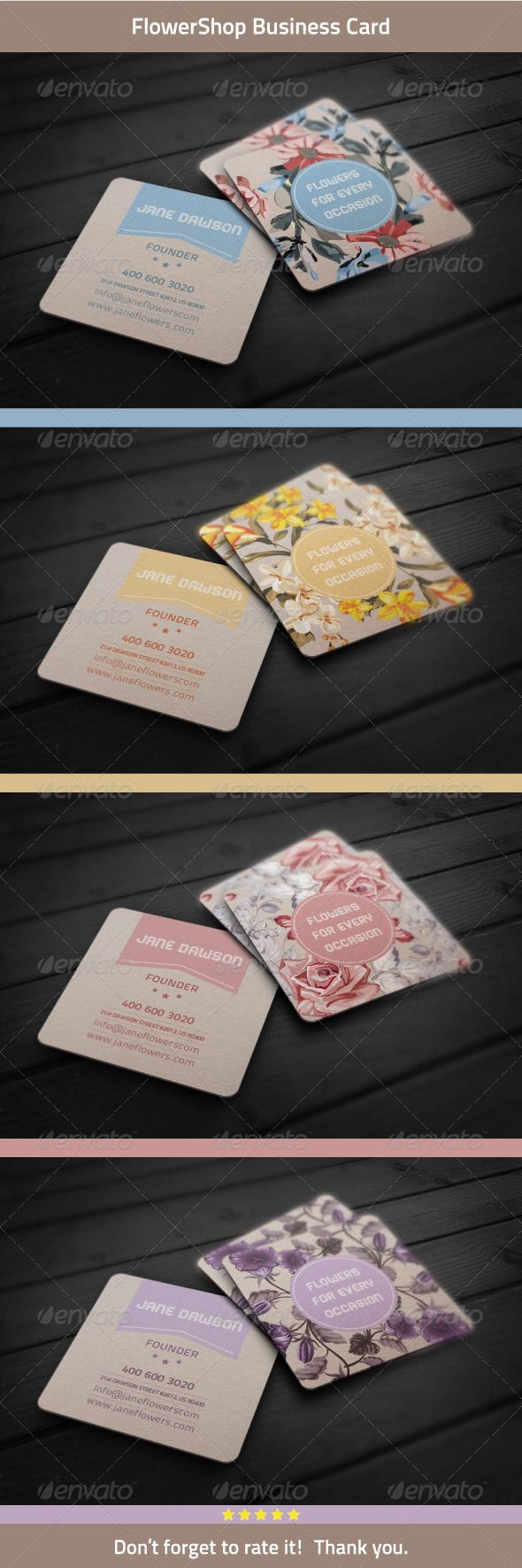 Best 25 square business cards ideas on pinterest business cards flower shop business card magicingreecefo Images
