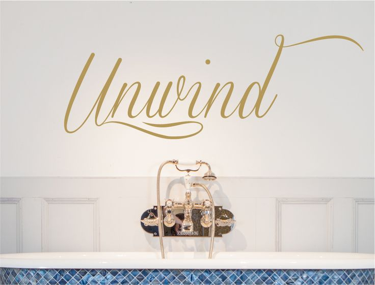 Unwind Wall Sticker | Bathroom Wall Decal   Aspect Wall Art