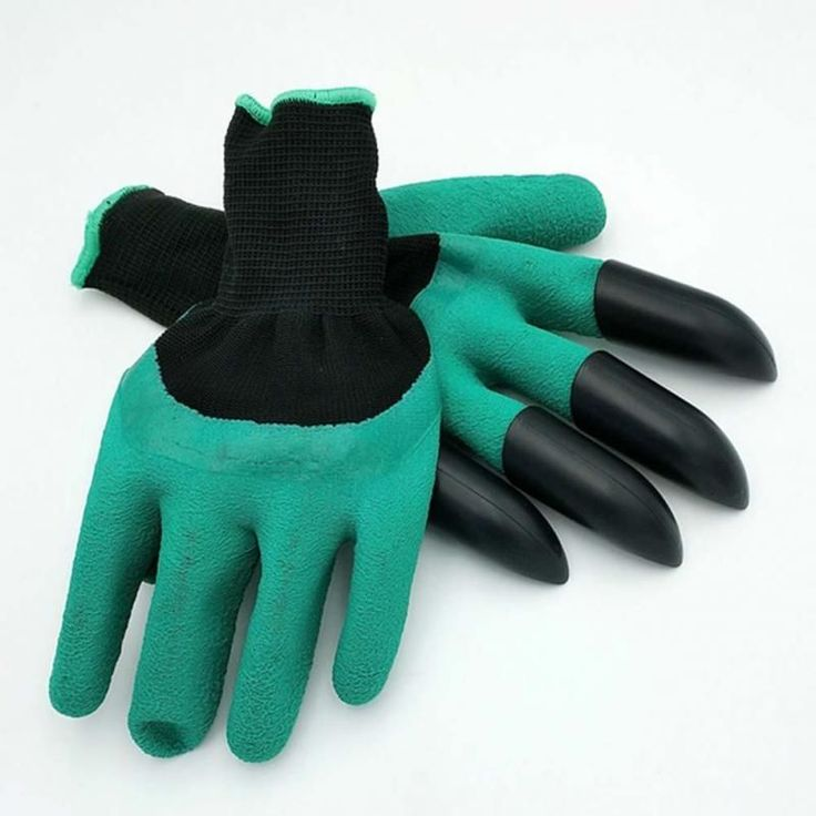Saingace Garden Gloves With 4 ABS Plastic Claws For Garden Digging Planting  *20 2017 1