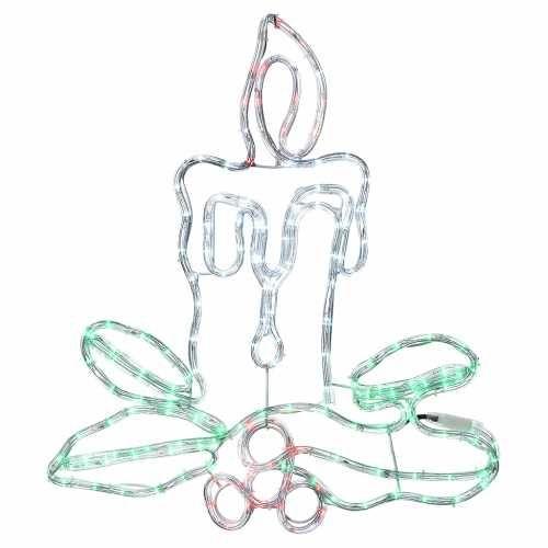 Decorazione natalizia candela 168 led esterno vendita for Vendita led online