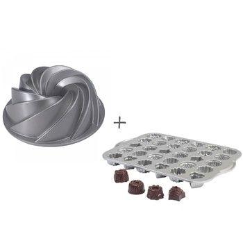Set formy na bábovku Rondo a formy na čajové pečivo a čokoládu | Bonami