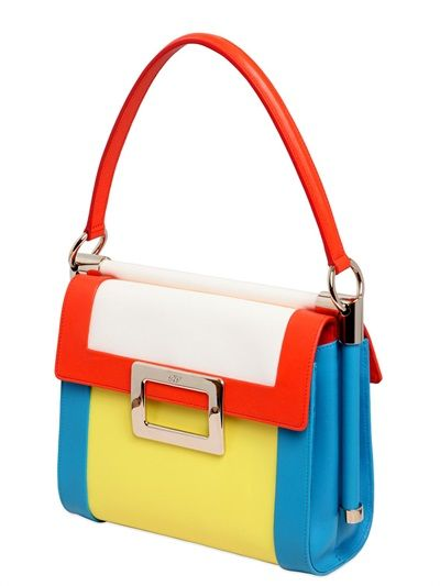 ROGER VIVIER MISS VIV COLOR BLOCK PATENT LEATHER BAG - LUXURY SHOPPING WORLDWIDE SHIPPING – FLORENCE