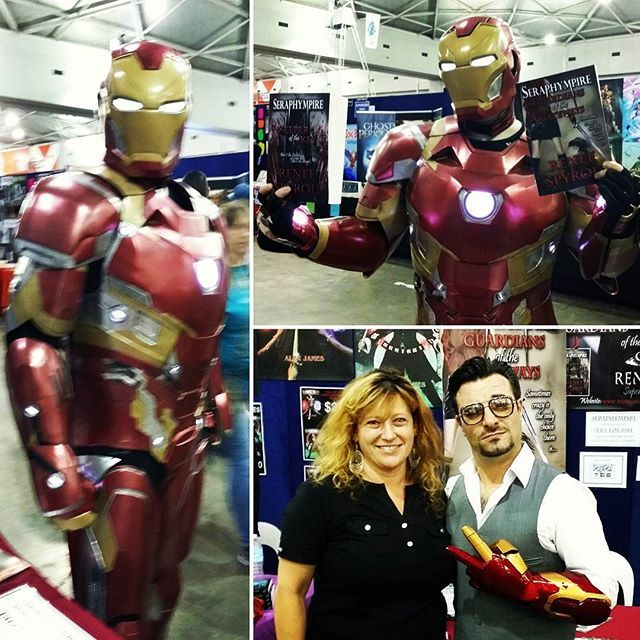 #TonyStark & #IronMan dropped by my #Seraphympire #BookSigning Table today at the #Supanova2016 #popculture #Expo in #Brisbane #QLD & checked out my #novels, you've gotta love #Marvel #Comics & #Movies #Cosplayers rock. If you've got a great #Cosplay #Costume drop by my table I'd love to take a photo and post it on my #Socialmedia accounts, #instagram #Facebook #Twitter #Pinterest and perhaps you'd like to check out my #books.