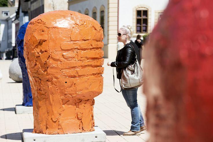 Open Air Ausstellung Bad Ragartz in Vaduz.