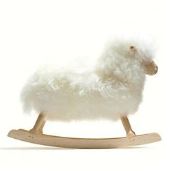 The Rocking Sheep, surely easy to make no? plywood, jigsaw, sheep skin...how much though....interesting...