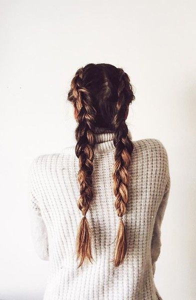 Step Up Your Braid Game With the Best French Braids On Pinterest | Thick Braided Pigtails