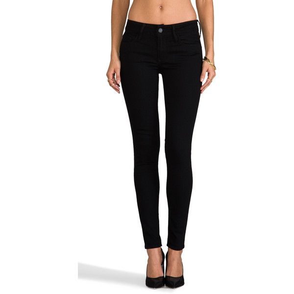"""Black Orchid 9"""" Skinny ($87) ❤ liked on Polyvore featuring jeans, pants, skinny fit jeans, back pocket jeans, black orchid jeans, black orchid and skinny jeans"""