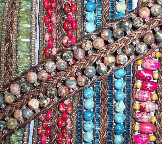 DIY Braided and Beaded Leather Bracelet Tutorial PDF by 4petessake #diy #bracelet