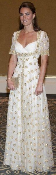 13 September 2012 - Gold & White Alexander McQueen Gown
