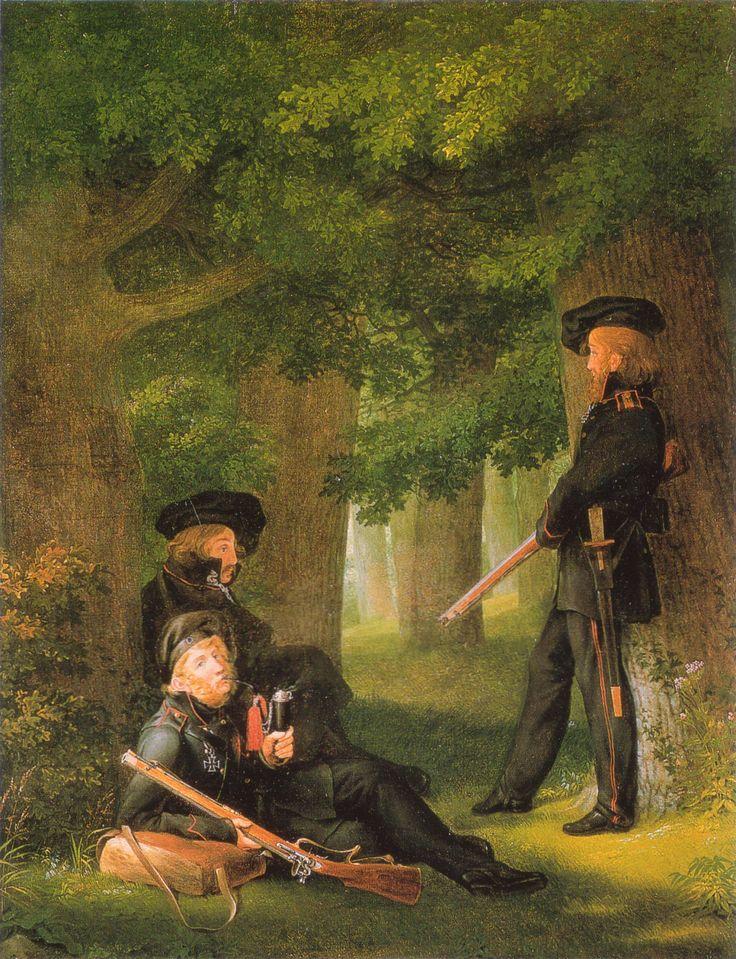 Georg Friedrich Kersting - Auf Vorposten, 1815