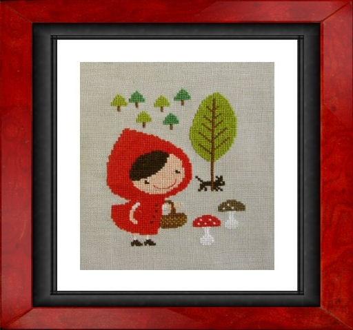 red riding hood cross stitch pattern